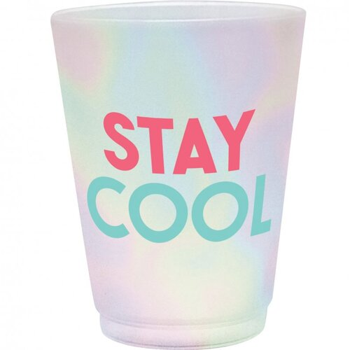 Just Chillin Frosted Plastic Tumblers Stay Cool 8 Pack