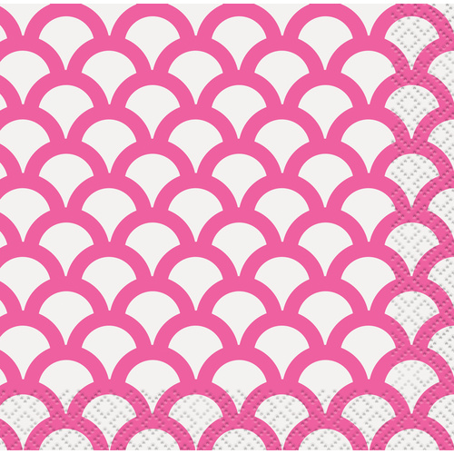 Scallop Beverage Napkins 2ply 16 Pack