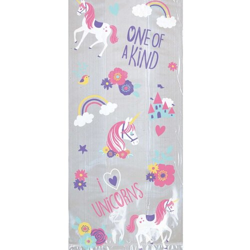 Magical Unicorn Cello Treat Bags Kit 20 Pack