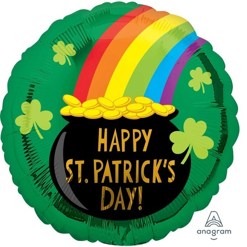 45cm Standard HX Happy St Patrick's Day Pot of Gold
