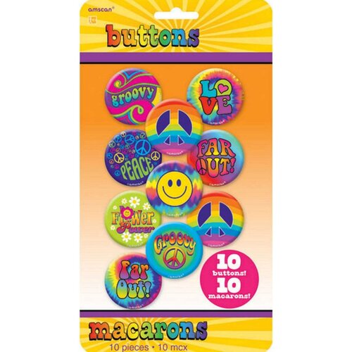 Feeling Groovy Buttons 10 Pack