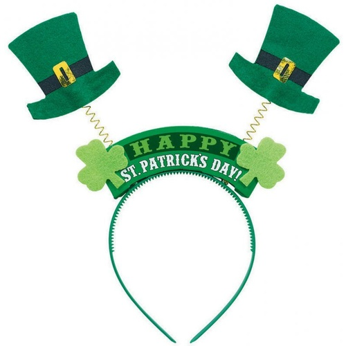 Top Hat Happy St Patrick's Day Headbopper