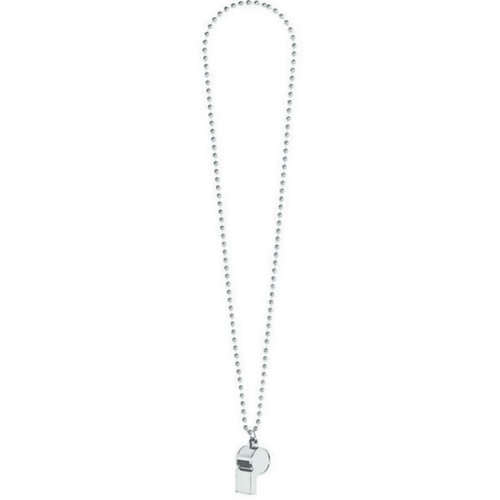 Whistle On Chain Necklace  - Silver
