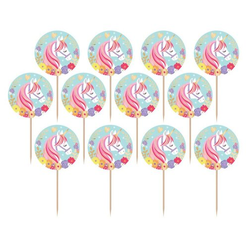 Magical Unicorn Foil Picks 24 Pack