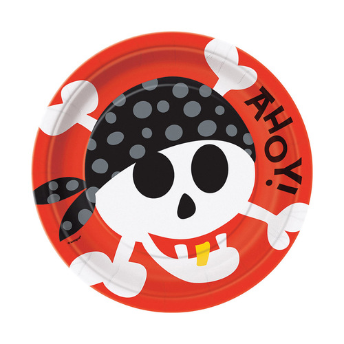 Pirate Fun Paper Plates 23cm 8 Pack