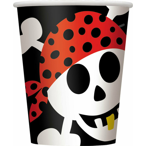 Pirate Fun Paper Cups 8 Pack 270ml