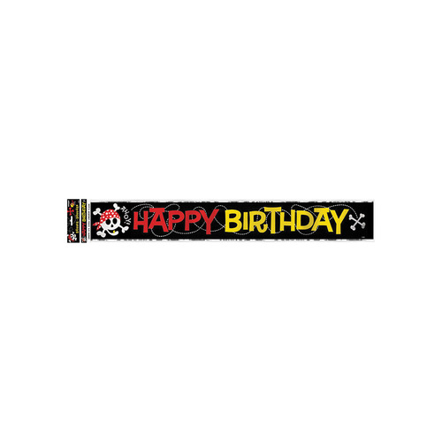 Pirate Fun Foil Banner 12ft