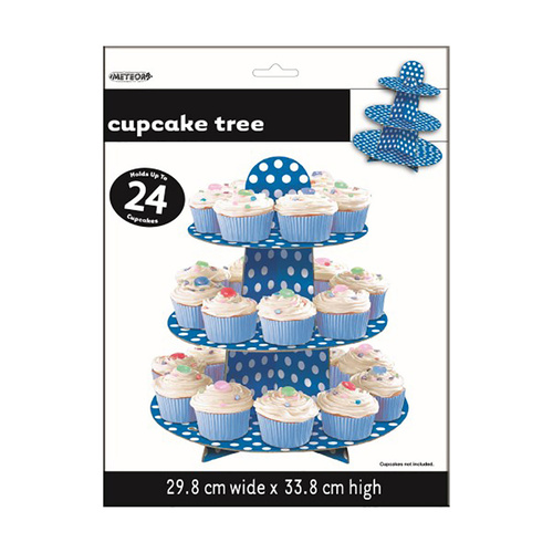 Dots Cupcake Tree - Royal Blue