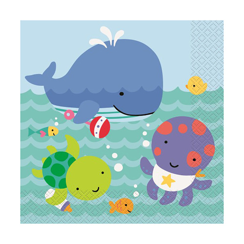 Under the Sea 20 Lunchch Napkins