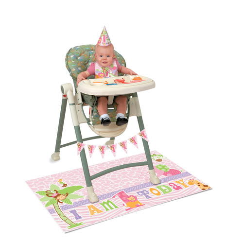 Pink Safari 1st High Chair Kit
