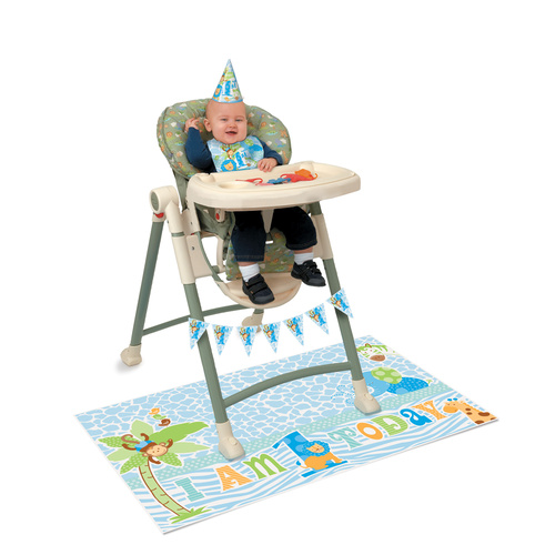 Blue Safari 1st High Chair Kit
