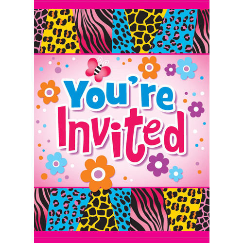 Wild Birthday 8 Invitations