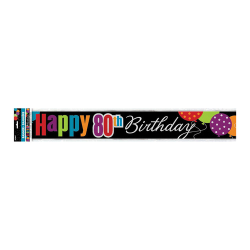 Birthday Cheer Foilbanner 80 12ft