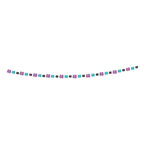 Birthday Cheer Garland 9ft - 40