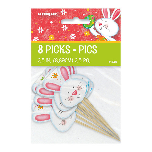 Easter Bunny Picks 8 Pack