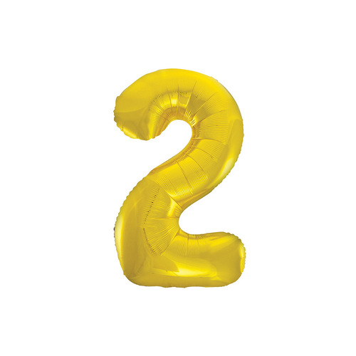 Gold 2 Number Foil Balloon 86cm