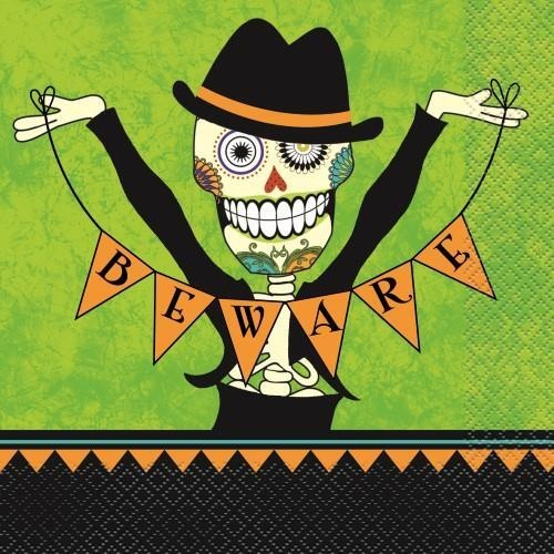 Day Of the Dead Luncheon Napkins 16 Pack