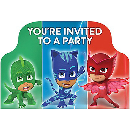 Pj Masks Invitations You'Re Invited 8 Pack
