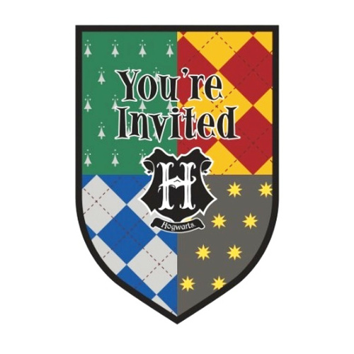 Harry Potter Postcard Invitations 8 Pack