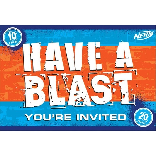 Nerf Postcard Invitations 8 Pack