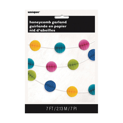 Honeycomb Ball Garland Multi-Coloured