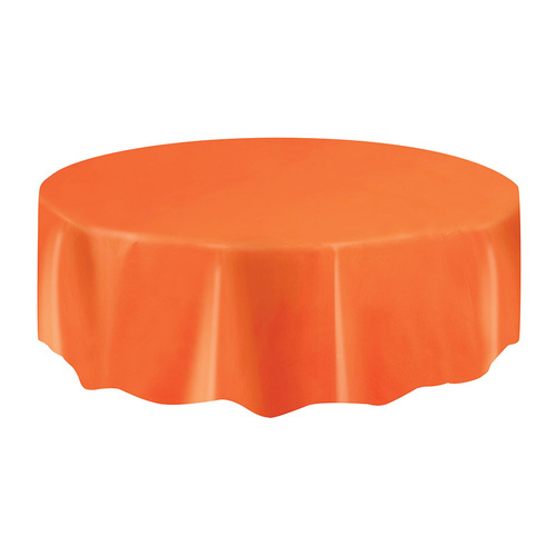 Plastic Tablecover Round - Orange