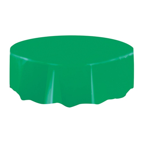 Emerald Green Plastic Tablecover Round