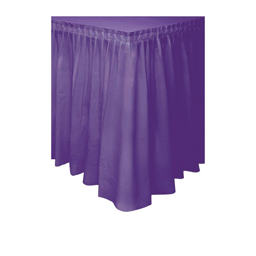 Deep Purple Plastic Tableskirt 37cm x 4.3m