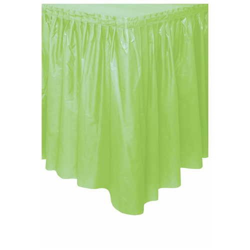 Apple Green Plastic Tableskirt 37cm x 4.3m