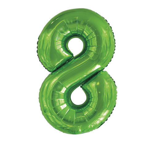 Lime Green 8 Number Foil Balloon 86cm