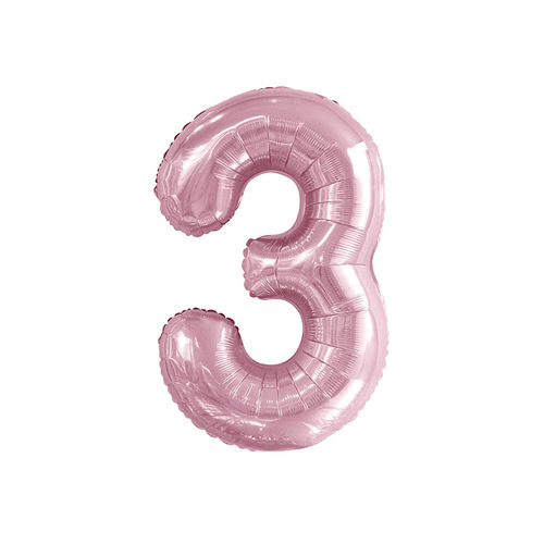 Lovely Pink 3 Number Foil Balloon 86cm