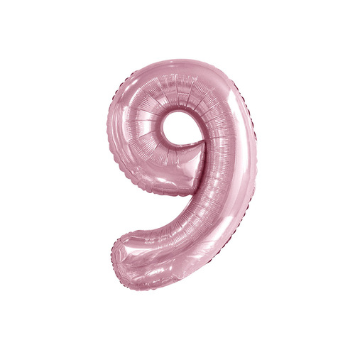 Lovely Pink 9 Number Foil Balloon 86cm