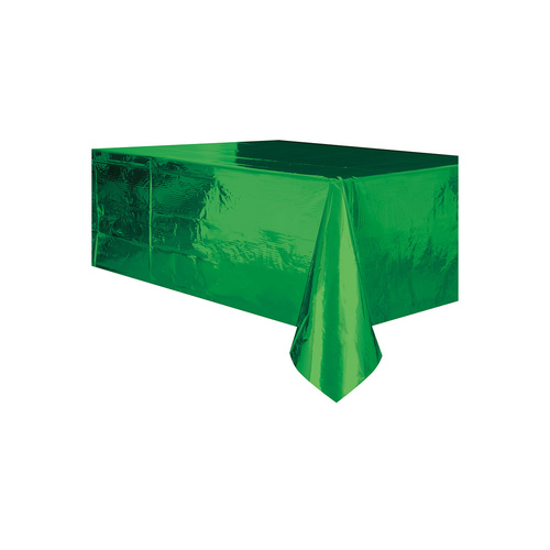 Green Foil Plastic Tablecover Rectangle
