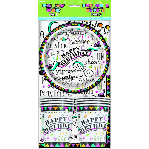Doodle Birthday Party pk For 8