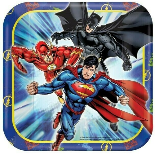 Justice League 17cm 8 Pack Square Plate