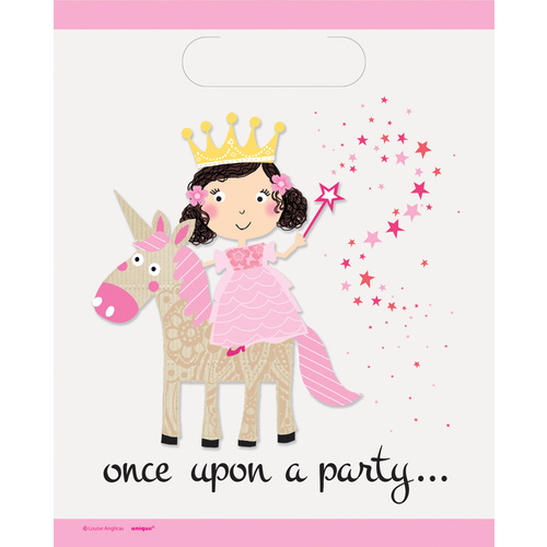 Princess Unicorn Loot Bags  8 Pack