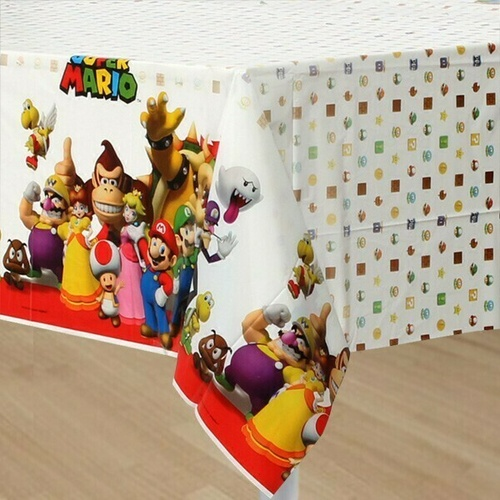 Super Mario Brothers Table Cover Plastic