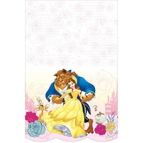 Beauty & the Beast Tablecover Plastic