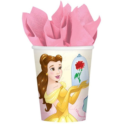 Beauty & the Beast Cups Paper 266ml 8 Pack