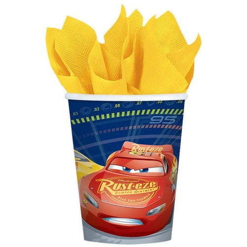 Cars 3 Cups 266ml 8 Pack