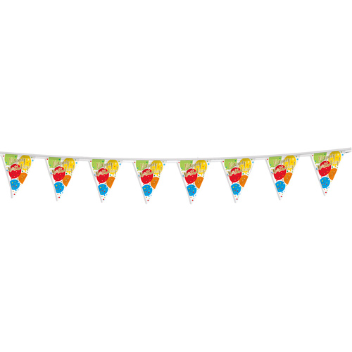 Glitzy Gold Birthday Flag Banner