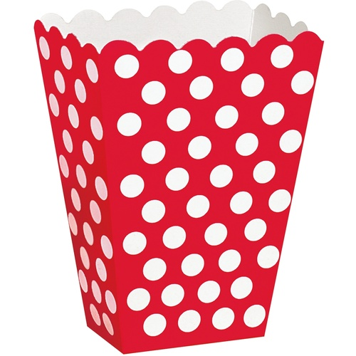 Dots Treat Boxes - Red 8 Pack