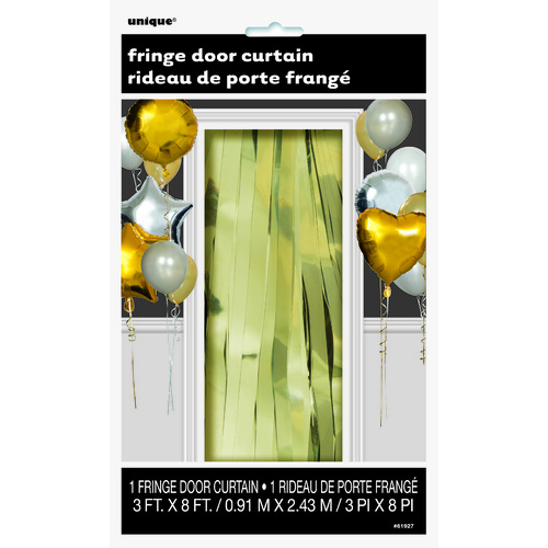 Fringe Door Curtain - Gold
