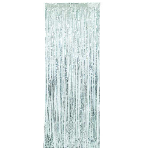 Fringe Door Curtain - Silver