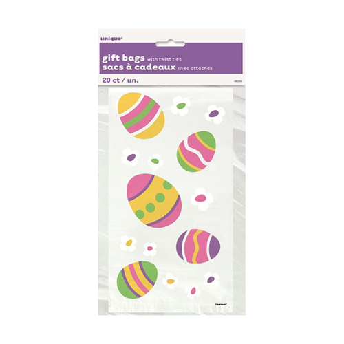 Easter Printed Cello Bags 20 Pack