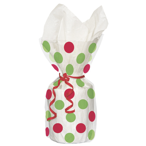 Dots 20 Cello Bags-Red + Green
