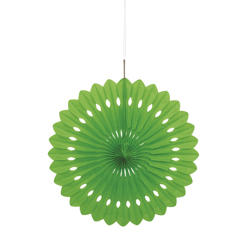 Decorative Fan 40cm - L/Green