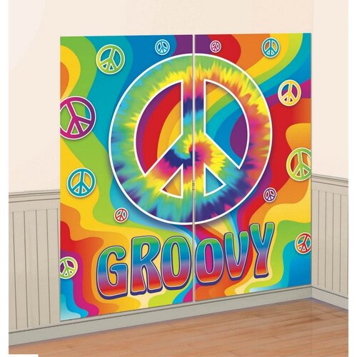 Feeling Groovy 60'S Scene Setter Wall Decorating Kit