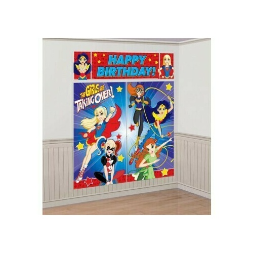 Super Hero Girls Scene Setter Kit Happy Birthday