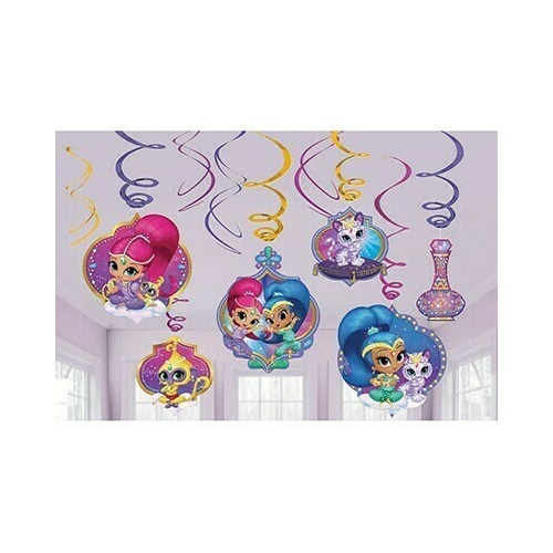 Shimmer & Shine Hanging Swirls Decorations Value Pack 12 Pack